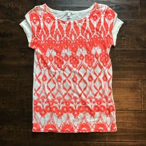 J. Crew orange floral top size extra small